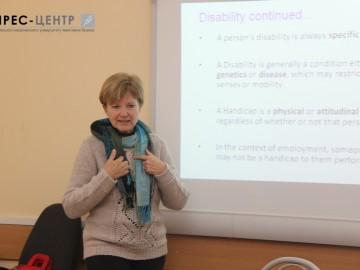 Елеанора Чорнобой зустрілась із студентами факультету педагогічної освіти