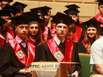 Урочистості з нагоди вручення дипломів випускникам історичного факультету