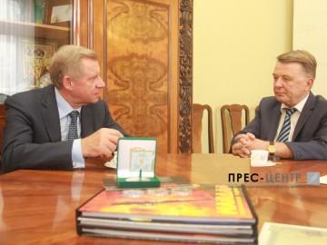 Ректор Університету Володимир Мельник зустрівся  зі заступником Голови Національного банку України