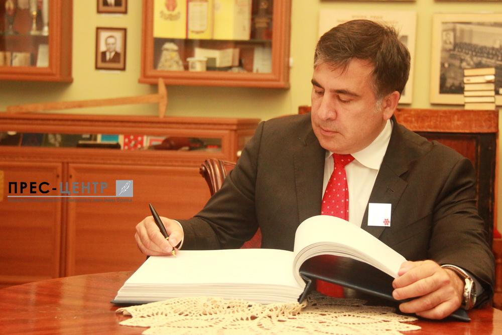 Міхеіл Саакашвілі відвідав Львівський університет