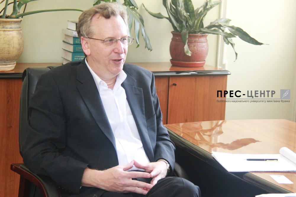 Зустріч проректора Університету Марії Зубрицької із заступником директора Інституту Кеннана Вільямом Померанцом
