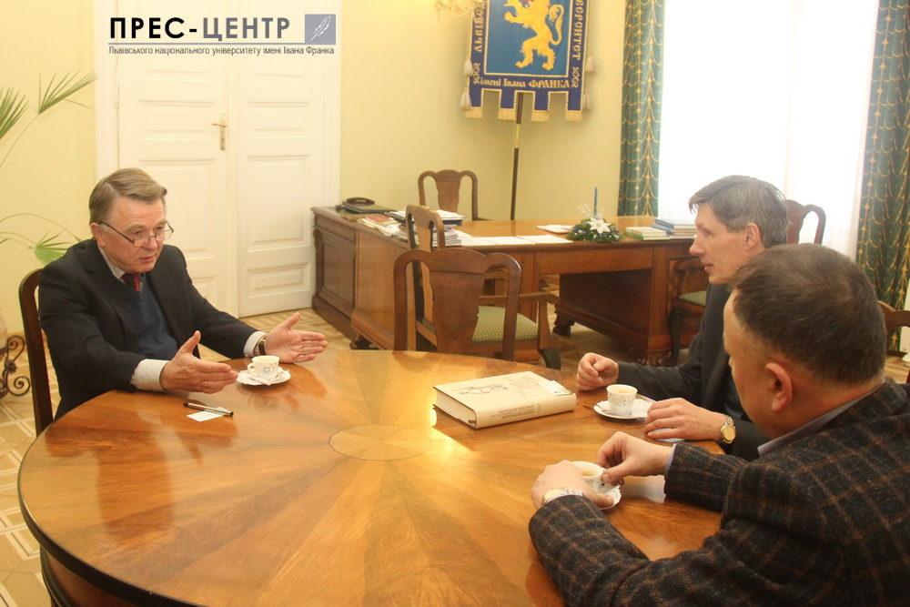 The Director of the Agency of the Ukrainian World Congress in Ukraine Serhiy Kasianchuk visited his Alma Mater