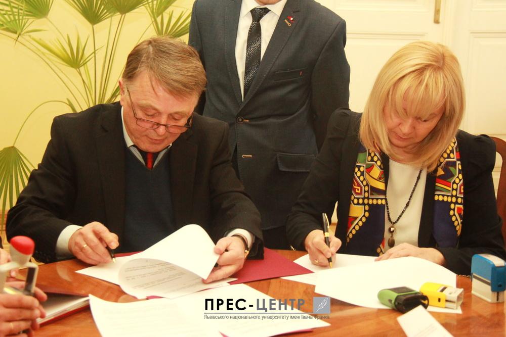 Ректор Університету підписав угоду про співпрацю з Університетом Марії Кюрі-Склодовської у Любліні