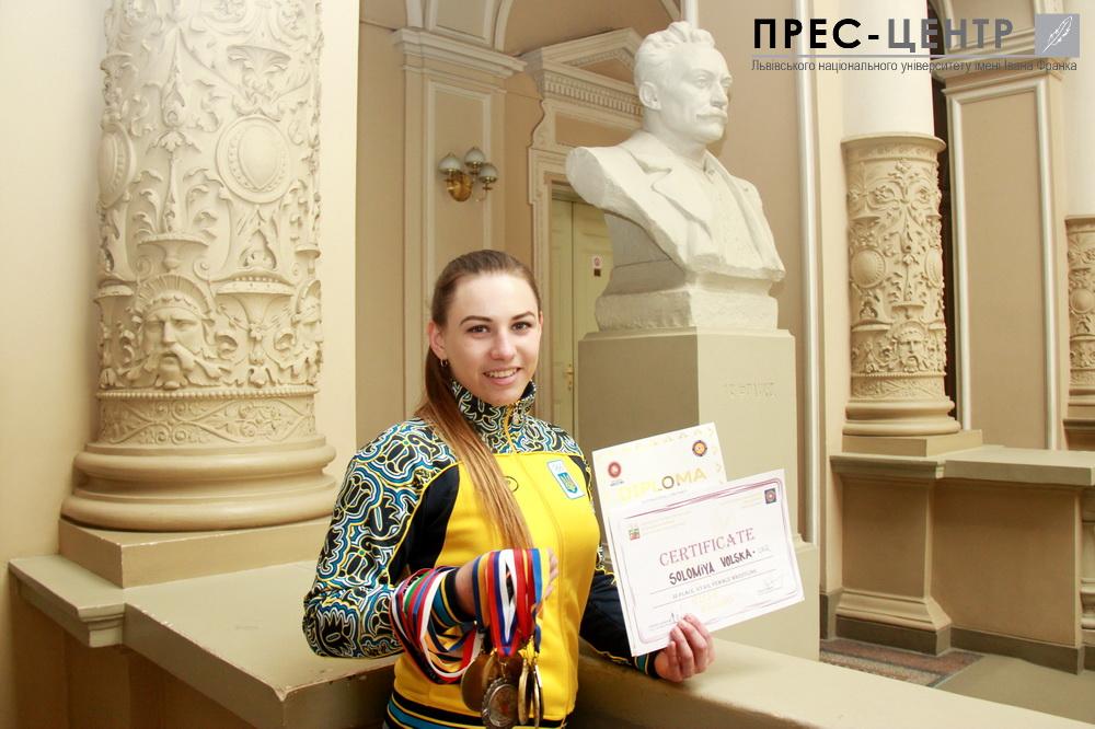 Студентка економічного факультету Соломія Вольська – бронзовий призер Чемпіонату Європи з вільної боротьби 2016 року