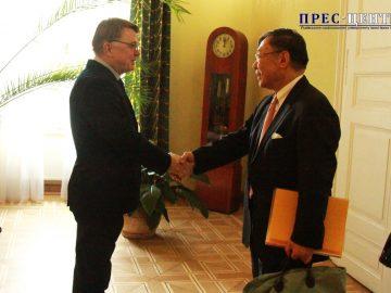Ректор Університету зустрівся із Надзвичайним і Повноважним Посолом Японії в Україні