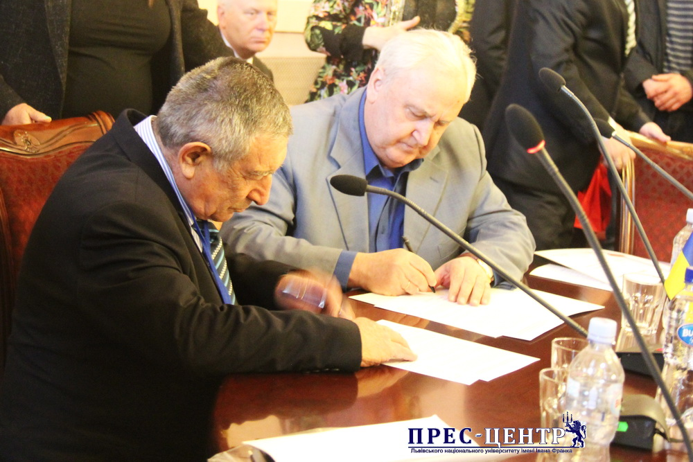 LVIV AND ISRAELI JOURNALISTS SIGNED A MEMORANDUM OF COOPERATION AT THE UNIVERSITY