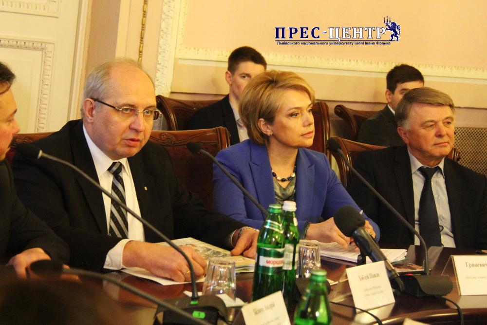 У Львівському університеті міністр освіти і науки України Лілія Гриневич розповіла про реформування шкільної системи освіти