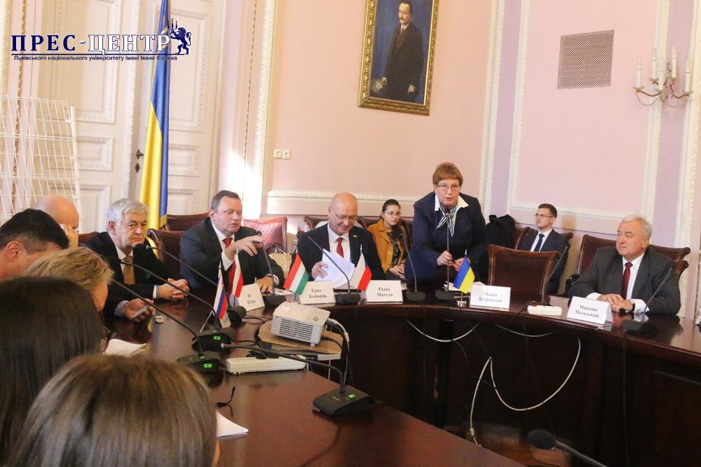 Посли країн Вишеградської четвірки відвідали Львівський університет
