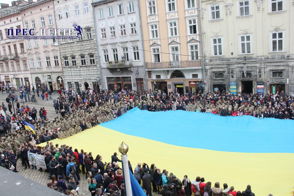 Університетська спільнота долучилась до акції публічного виконання Державного Гімну України