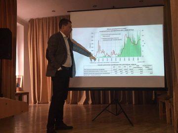 Зустріч Віталія Ломаковича (член Ради НБУ у 2014-2015 рр.) зі студентами Львівського університету