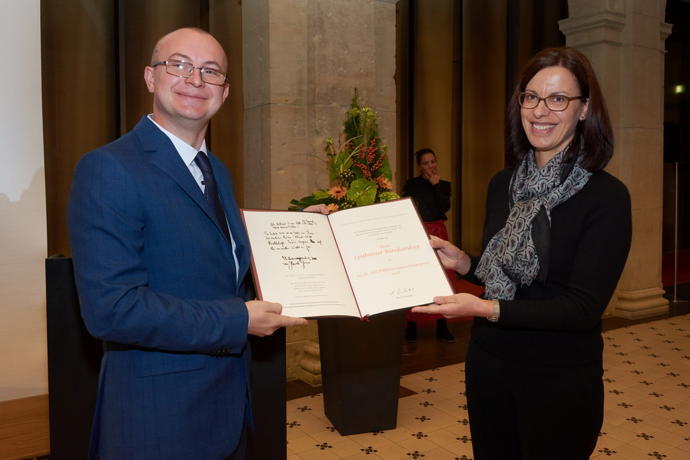 UNIVERSITY PROFESSOR AWARDED BROTHERS GRIMM PRIZE FOR YOUNG SCIENTISTS