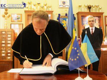 Ректор Університету Володимир Мельник зустрівся із Президентом Європейської Ради Дональдом Туском